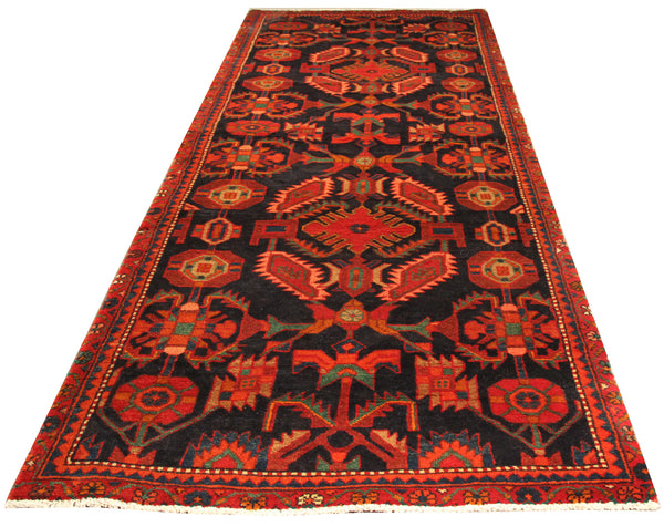 22189 - Hamadan Hand-Knotted/Handmade Persian Rug/Carpet Traditional Authentic