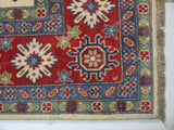"21520-Kazak Handmade/Hand-Knotted Afghan Rug/Carpet Tribal/Nomadic Authentic10'2"" x 8'3"""