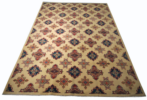 21521-Kazak Handmade/Hand-Knotted Afghan Rug/Carpet Tribal/Nomadic Authentic
