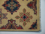 21523-Kazak Handmade/Hand-Knotted Afghan Rug/Carpet Tribal/Nomadic Authentic