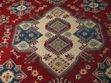 21555-Kazak Hand-Knotted/Handmade Afghan Rug/Carpet Tribal/Nomadic Authentic
