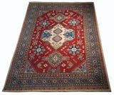21556-Kazak Hand-Knotted/Handmade Afghan Rug/Carpet Tribal/Nomadic Authentic