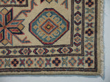 21562-Kazak Hand-Knotted/Handmade Afghan Rug/Carpet Tribal/Nomadic Authentic