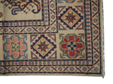 21566-Kazak Hand-Knotted/Handmade Afghan Rug/Carpet Tribal/Nomadic Authentic