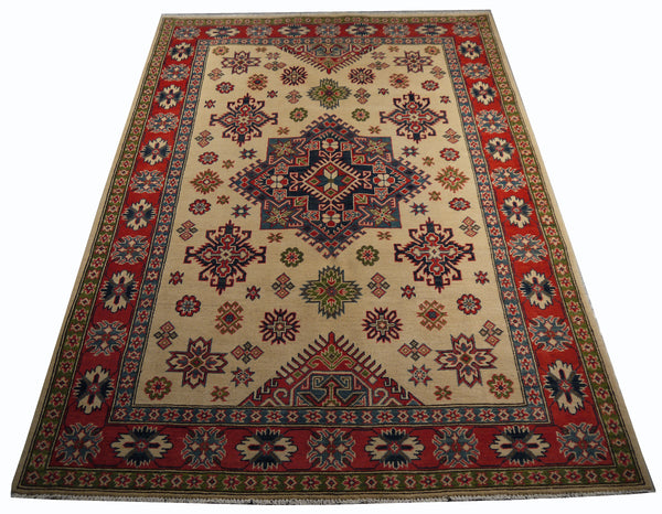 21612-Kazak Handmade/Hand-Knotted Afghan Rug/Carpet Tribal/Nomadic Authentic