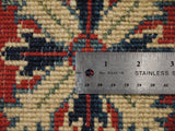 21674-Kazak Hand-Knotted/Handmade Afghan Rug/Carpet Tribal/Nomadic Authentic
