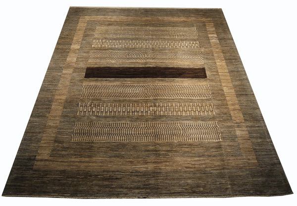 21746-Chobi Ziegler Hand-Knotted/Handmade Afghan Rug/Carpet Modern Authentic