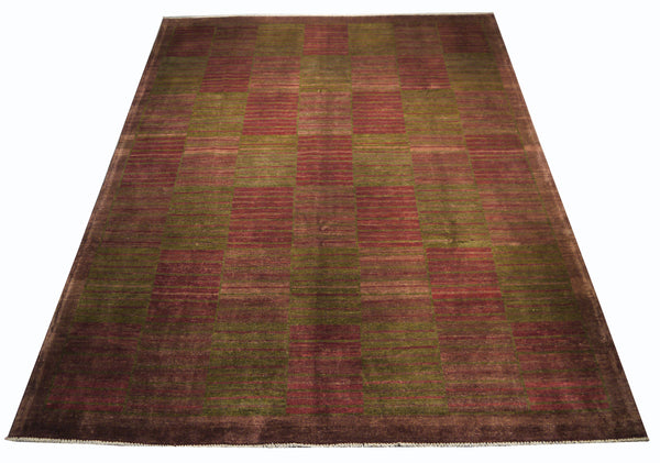 21747-Chobi Ziegler Hand-Knotted/Handmade Afghan Rug/Carpet Modern Authentic