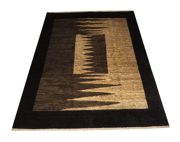 21752-Chobi Ziegler Hand-Knotted/Handmade Afghan Rug/Carpet Modern Authentic
