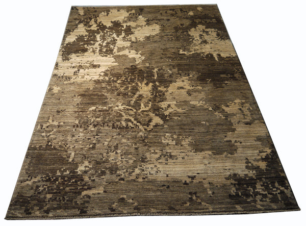 21753-Chobi Ziegler Hand-Knotted/Handmade Afghan Rug/Carpet Modern Authentic