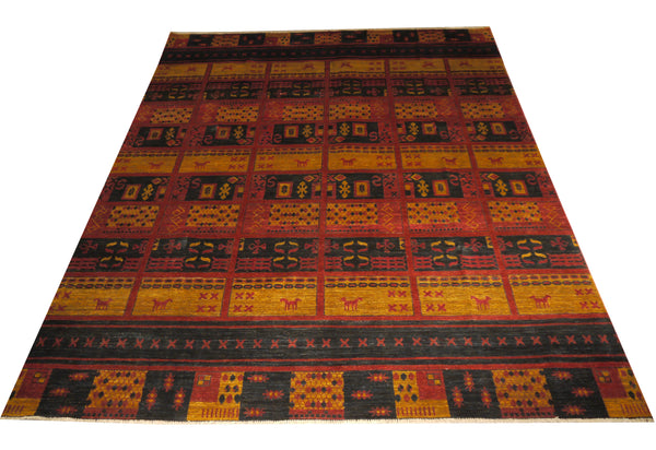 "21762-Chobi Ziegler Hand-Knotted/Handmade Afghan Rug/Carpet Modern Authentic/Size 11'5"" x 8'9"""