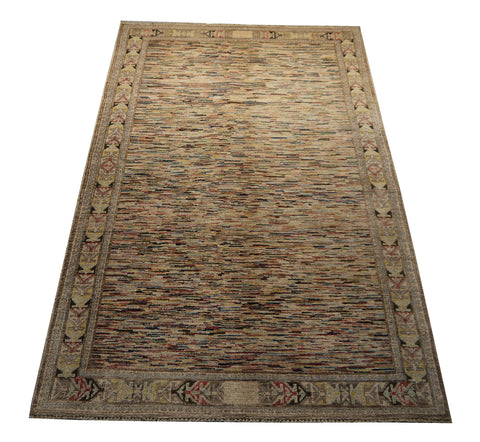 21770 - Chobi Ziegler Hand-Knotted/Handmade Afghan Rug/Carpet Modern Authentic