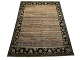 21771-Chobi Ziegler Hand-Knotted/Handmade Afghan Rug/Carpet Modern Authentic