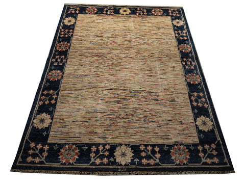 21772 - Chobi Ziegler Hand-Knotted/Handmade Afghan Rug/Carpet Modern Authentic