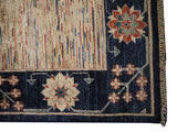 21772-Chobi Ziegler Hand-Knotted/Handmade Afghan Rug/Carpet Modern Authentic