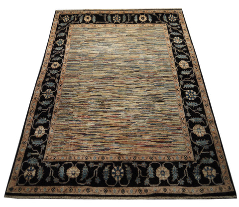21774 - Chobi Ziegler Hand-Knotted/Handmade Afghan Rug/Carpet Modern Authentic