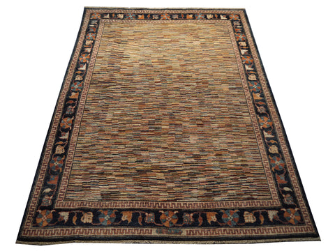 21777 - Chobi Ziegler Hand-Knotted/Handmade Afghan Rug/Carpet Modern Authentic