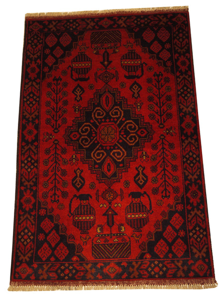 21862-Khal Mohammad Hand-Knotted/Handmade Afghan Rug/Carpet/Nomadic Authentic