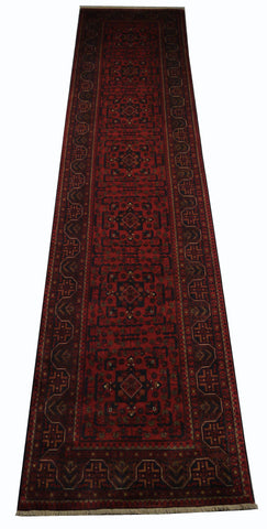 21918-Khal Mohammad Hand-Knotted/Handmade Afghan Rug/Carpet Tribal/Nomadic Authentic