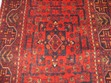 "21918-Khal Mohammad Hand-Knotted/Handmade Afghan Rug/Carpet Tribal/Nomadic Authentic/Size 12'1"" x 2'6"""