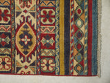 21960 - Kazak Hand-Knotted/Handmade Afghan Rug/Carpet Traditional Authentic