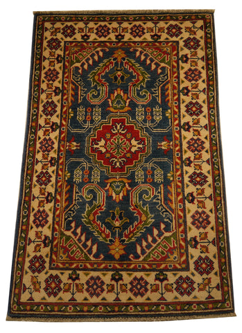 21970 - Kazak Hand-Knotted/Handmade Afghan Rug/Carpet Traditional Authentic