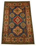 21975 - Kazak Hand-Knotted/Handmade Afghan Rug/Carpet Traditional Authentic