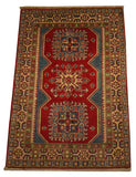 21978 - Kazak Hand-Knotted/Handmade Afghan Rug/Carpet Traditional Authentic