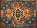 21981 - Kazak Hand-Knotted/Handmade Afghan Rug/Carpet Traditional Authentic