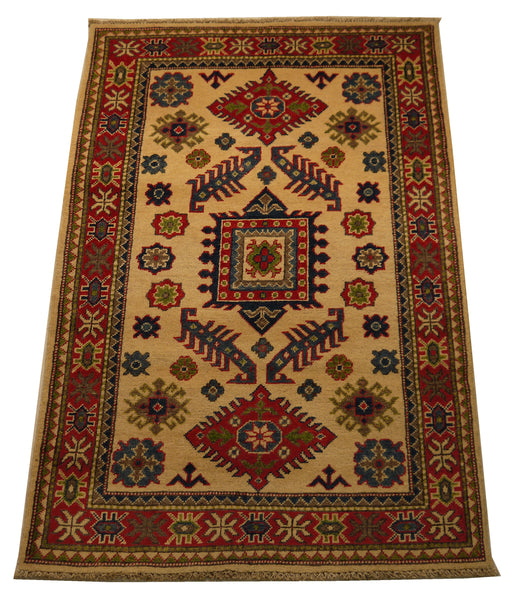 21990 - Kazak Hand-Knotted/Handmade Afghan Rug/Carpet Traditional Authentic