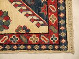 22039 - Kazak Hand-Knotted/Handmade Afghan Rug/Carpet Traditional Authentic