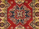 22043 - Kazak Hand-Knotted/Handmade Afghan Rug/Carpet Traditional Authentic