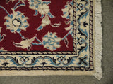 22056 - Nain Hand-Knotted/Handmade Persian Rug/Carpet Traditional Authentic