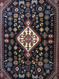 15212-Abadeh Hand-Knotted/Handmade Persian Rug/Carpet Tribal/Nomadic Authentic