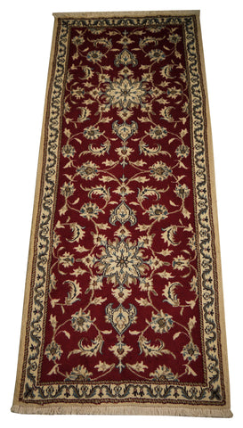 22057 - Nain Hand-Knotted/Handmade Persian Rug/Carpet Traditional Authentic