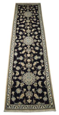 "22058 - Nain Hand-Knotted/Handmade Persian Rug/Carpet Traditional Authentic/Size 10'1"" x 2'8"""