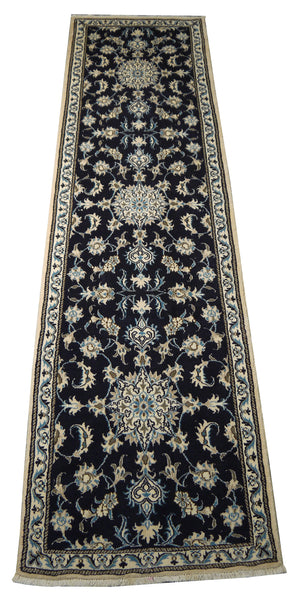 22062 - Nain Hand-Knotted/Handmade Persian Rug/Carpet Traditional Authentic