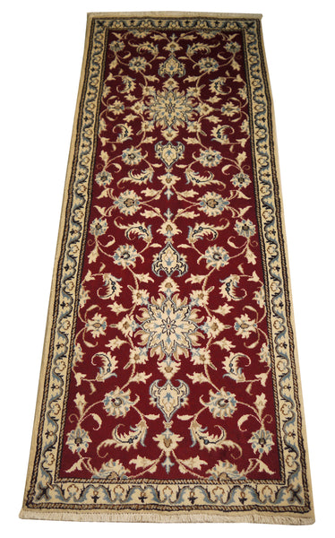 22063 - Nain Hand-Knotted/Handmade Persian Rug/Carpet Traditional Authentic