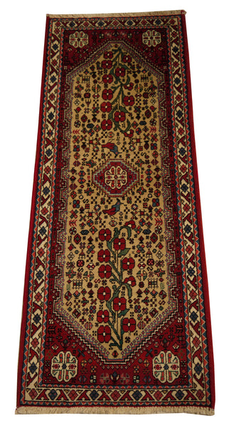 22069 - Abadeh Hand-Knotted/Handmade Persian Rug/Carpet Traditional Authentic