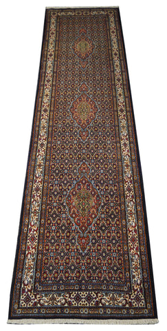 22071 - Moud Hand-Knotted/Handmade Persian Rug/Carpet Traditional Authentic
