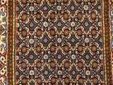 "22075 - Moud Hand-Knotted/Handmade Persian Rug/Carpet Traditional Authentic/Size 9'8"" x 2'6"""