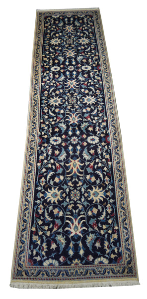 22077 - Moud Hand-Knotted/Handmade Persian Rug/Carpet Traditional Authentic