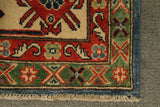 "22351 - Kazak Hand-Knotted/Handmade Afghan Tribal/Nomadic Authentic/Size 9'8"" x 7'7"""