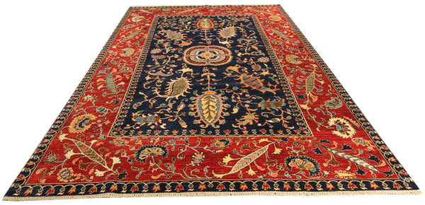 "22444 - Chobi Ziegler Hand-knotted/Handmade Afghan Rug/Carpet Traditional Authentic/Size 9'11"" x 6'10"""