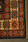 22467 - Kazak Hand-Knotted/Handmade Afghan Tribal/Nomadic Authentic
