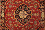 22225 - Kashan Handmade/Hand-Knotted Persian Rug/Carpet Authentic
