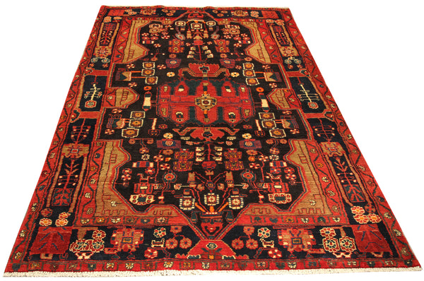 22099 - Hamadan Hand-Knotted/Handmade Persian Rug/Carpet Traditional Authentic
