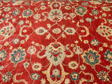 15491-Chobi Ziegler Hand-Knotted/Handmade Afghan Rug/Carpet Traditional Authentic