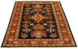 22457 - Kazak Hand-Knotted/Handmade Afghan Tribal/Nomadic Authentic