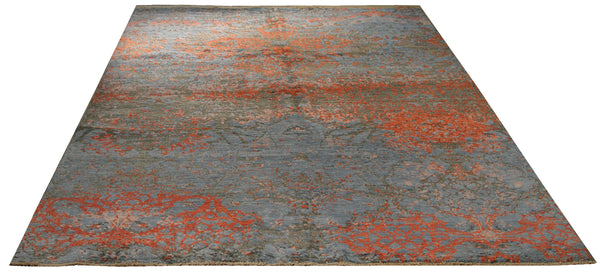 22256 - Indian Hand-knotted/Hand-weaved Rug/Carpet Authentic/Classic/Contemporary/Modern